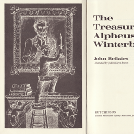 Treasure of Alpheus Winterborn interior art (frontispiece) (UK, 1982)