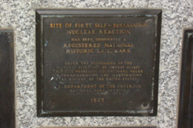 Stagg Field plaque (1965)
