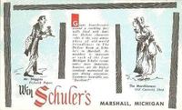 Schuler's Restaurant Dickens postcard - stiggins-marchioness