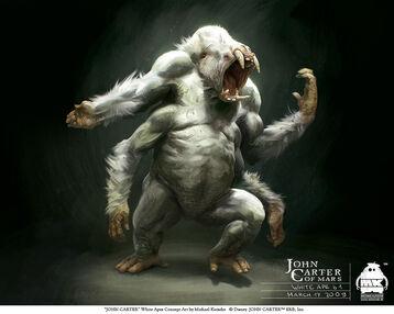Barsoomian white ape