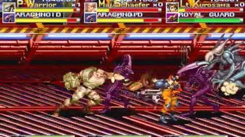 Alien vs. Predator arcade 3 player Netplay 60fps