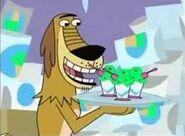 Dukey with ice cream