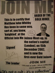 Gold joinee certificate
