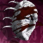 Máscara de piedra salpicada de la sangre de DIO