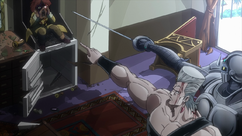 Polnareff against Ebony Devil