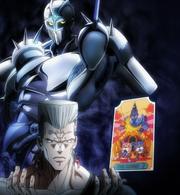 Polnareff Stand card anime