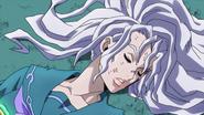 Yukako's white hair