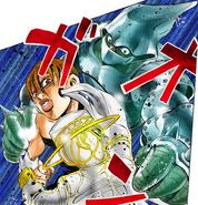 Ken Oyanagi y Boy II Man absorviendo a Heaven Door