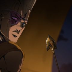 Polnareff hoping to get the Arrow to Bucciarati