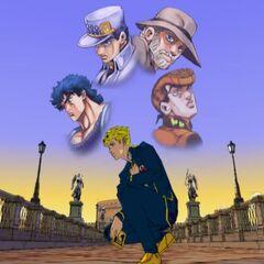 Giorno and his predecessors, <i>Vento Aureo</i>