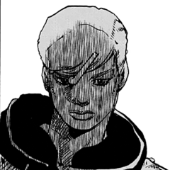 Jobin gives Mitsuba a blank stare as she barges in on the scene