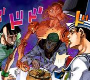 Josuke sees speed king