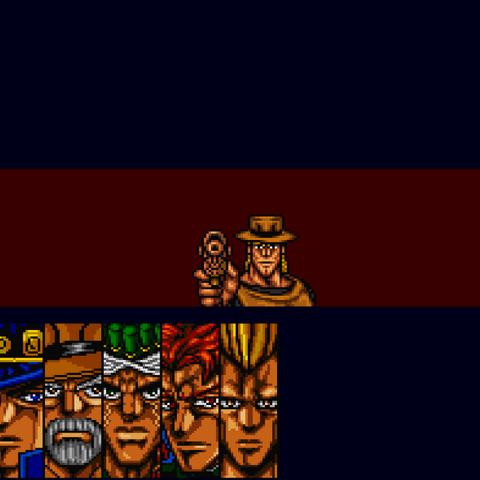 Хол Хорс и Emperor в Stardust Crusaders Super Famicom Game