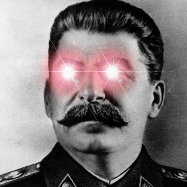 Resultado de imagen de Stalin red eyes