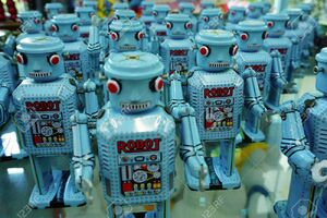 54845552-ayutthaya-thailand-blue-robot-parade-collection-at-the-million-toy-museum-on-jan-26-2016-