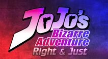 JoJo's Bizarre Adventure Right And Just logo