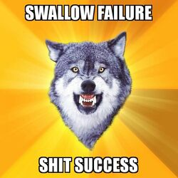 Courage Wolf Swallow Failure Shit Success