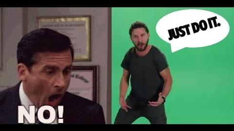 Shia Labeouf Vs Steve Carell - JUST DO IT !!! Vs NO GOD PLEASE NOOOO !!!-1