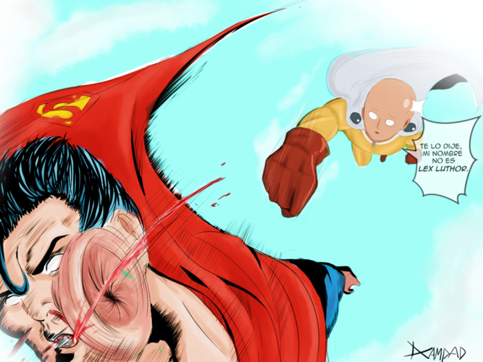 Saitama v s superman by dcampad-d9deoa9