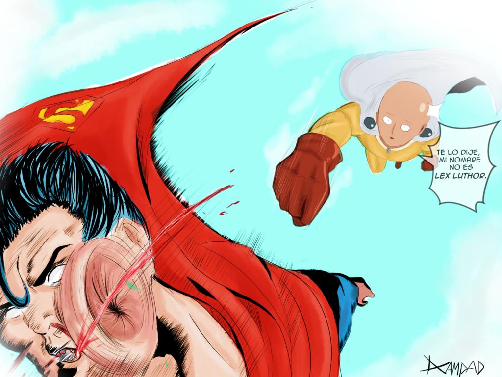 Saitama V S Superman By Dcampad D9deoa9