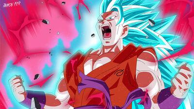 Goku super saiyan blue 3 super kaioken 10x by ramonfer-d9zjb79