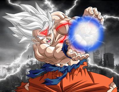 Goku super saiyan white by Z-Creator
