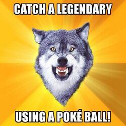 Courage Wolf Poké Ball