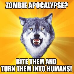 Courage Wolf Zombie Apocalypse