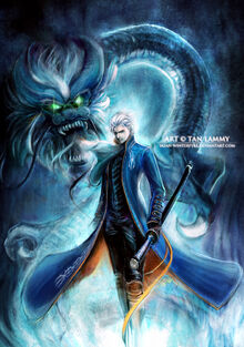 Vergil with dragon