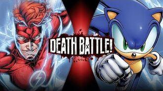 Flash VS Sonic (Wally West VS Archie Sonic) DEATH BATTLE!