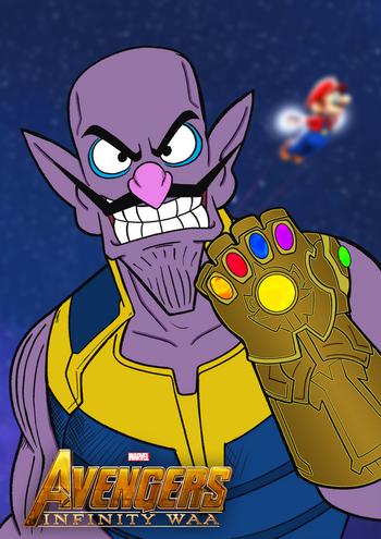 Infinity Gauntlet Waluigi