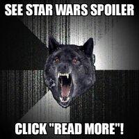 Insanity Wolf Star Wars Spoiler