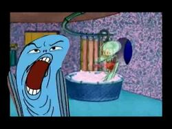 Deaugh Fish Drops By Squidward's House