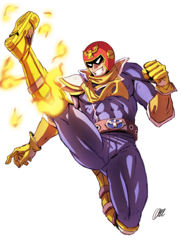 File:Captain falcon falcon kick speedpaint by onichan xd-d8pssct.png