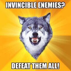 Courage Wolf Invincible Enemies