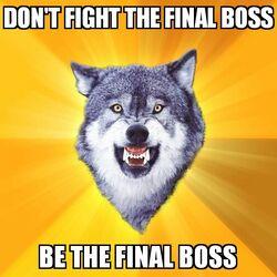 Courage Wolf Final Boss
