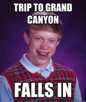 BLB Falls Into Grand Canyon