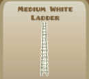 Medium White Ladder