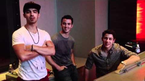 Jonas brothers in the studio.