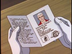 Race's passport in TRA 203