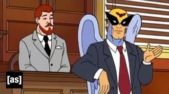 La garde des enfants Quest Harvey Birdman Attorney at Law Adult Swim