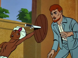 Hadji saves Dr. Quest