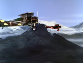 Race and Baron in dogfight