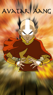 Avatar aang with background by stephen97-d316tiq