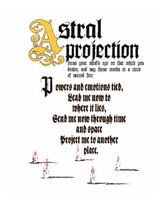 Astral Projection Spell (Candles Version)