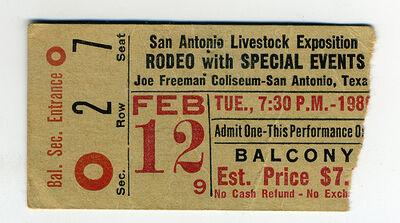 San Antonio Stock Show & Rodeo 1980