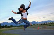 Jumping Rebecca