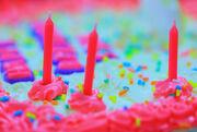 Free Pretty Princess Pink Happy Birthday Cake Colors Creative Commons