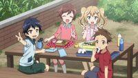 Shuu, Hana, Hitomi and Yuuji as children