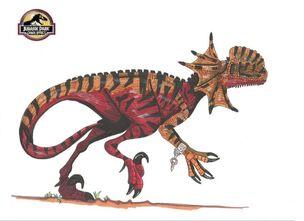 671px-Jp Chaos Effect Dilophoraptor by hellraptor